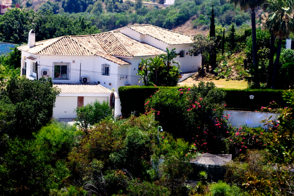 Arial View of House from street above