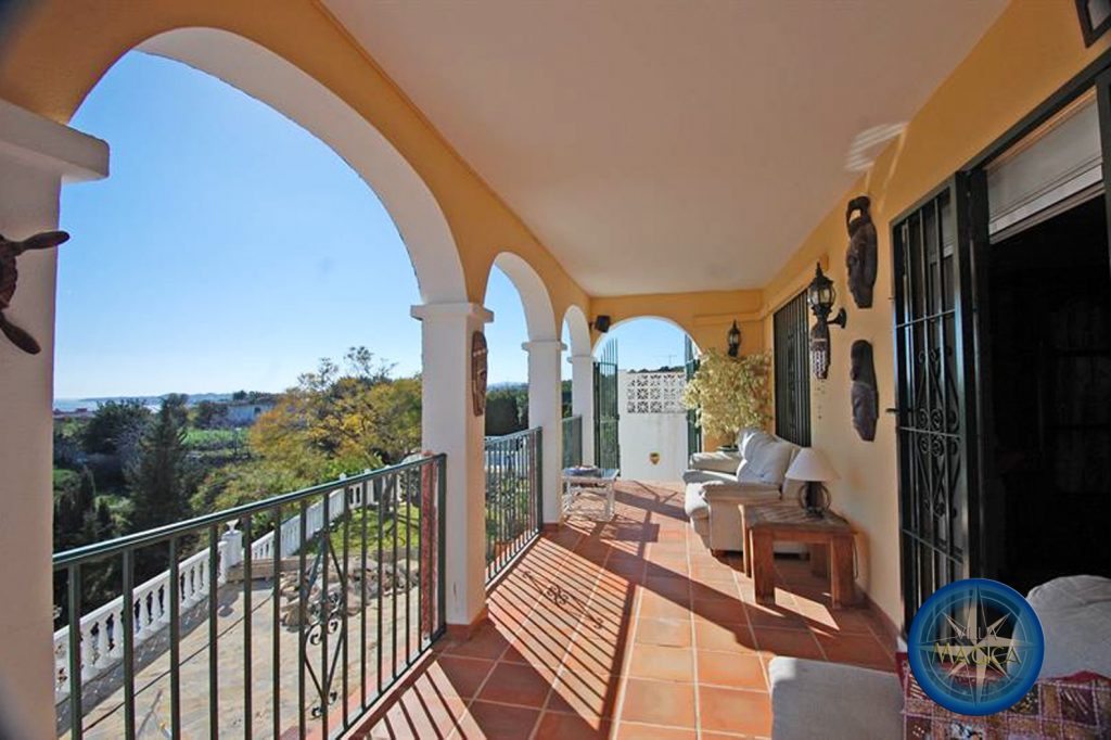 top terrace of Villa Magica with view to west